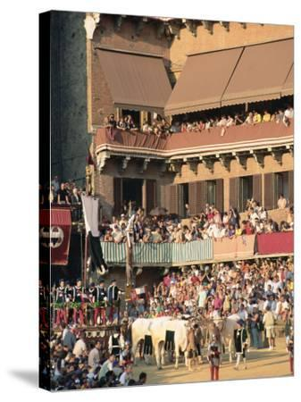 The Opening Parade of the Palio Horse Race, Siena, Tuscany, Italy, Europe-Upperhall Ltd-Stretched Canvas Print