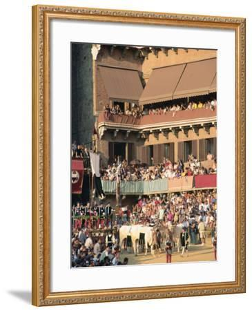 The Opening Parade of the Palio Horse Race, Siena, Tuscany, Italy, Europe-Upperhall Ltd-Framed Photographic Print