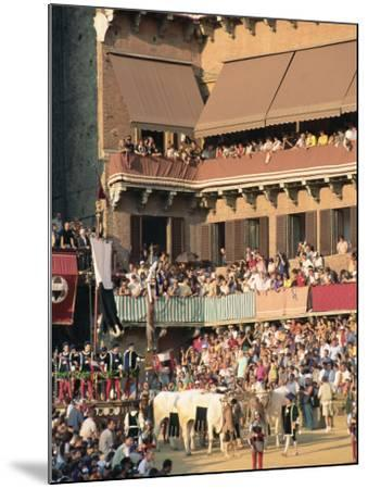 The Opening Parade of the Palio Horse Race, Siena, Tuscany, Italy, Europe-Upperhall Ltd-Mounted Photographic Print