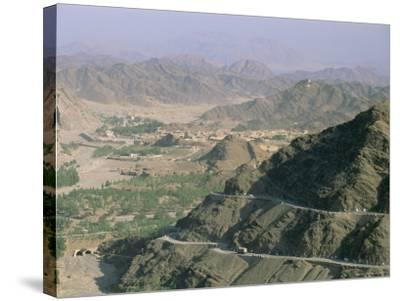 View into Afghanistan from the Khyber Pass, North West Frontier Province, Pakistan, Asia-Upperhall Ltd-Stretched Canvas Print