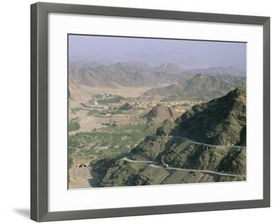 View into Afghanistan from the Khyber Pass, North West Frontier Province, Pakistan, Asia-Upperhall Ltd-Framed Photographic Print