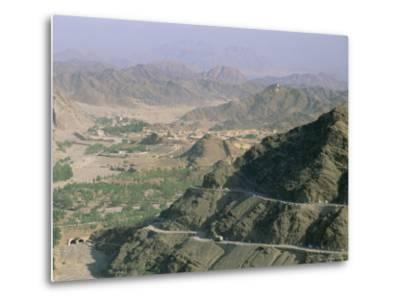 View into Afghanistan from the Khyber Pass, North West Frontier Province, Pakistan, Asia-Upperhall Ltd-Metal Print