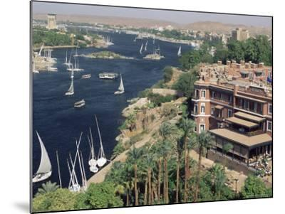 Feluccas on the River Nile and the Old Cataract Hotel, Aswan, Egypt, North Africa, Africa-Upperhall Ltd-Mounted Photographic Print