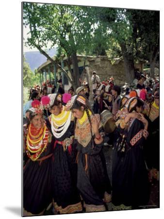 Kalash Women, Rites of Spring, Joshi, Bumburet Valley, Pakistan, Asia-Upperhall Ltd-Mounted Photographic Print