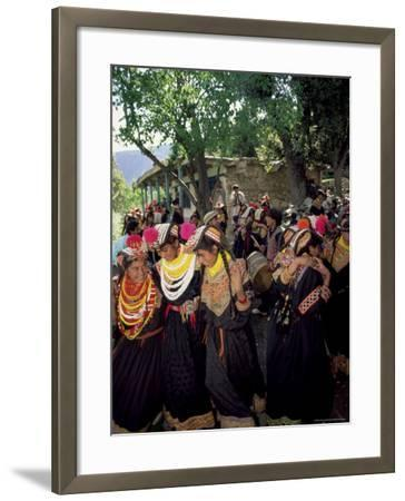 Kalash Women, Rites of Spring, Joshi, Bumburet Valley, Pakistan, Asia-Upperhall Ltd-Framed Photographic Print