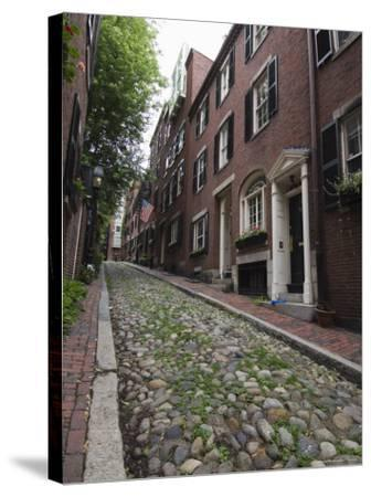 Acorn Street, Beacon Hill, Boston, Massachusetts, USA-Amanda Hall-Stretched Canvas Print