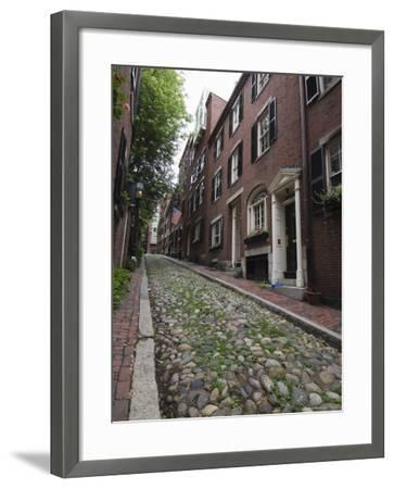 Acorn Street, Beacon Hill, Boston, Massachusetts, USA-Amanda Hall-Framed Photographic Print