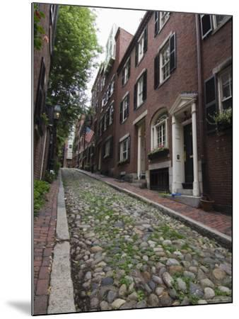 Acorn Street, Beacon Hill, Boston, Massachusetts, USA-Amanda Hall-Mounted Photographic Print