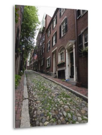 Acorn Street, Beacon Hill, Boston, Massachusetts, USA-Amanda Hall-Metal Print