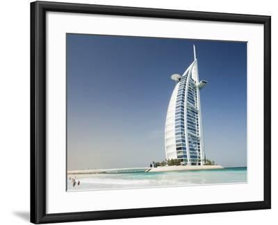 Burj Al Arab Hotel, Dubai, United Arab Emirates, Middle East-Amanda Hall-Framed Photographic Print