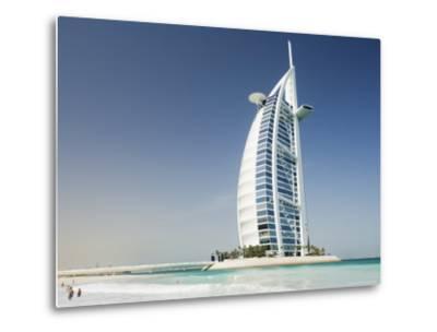Burj Al Arab Hotel, Dubai, United Arab Emirates, Middle East-Amanda Hall-Metal Print