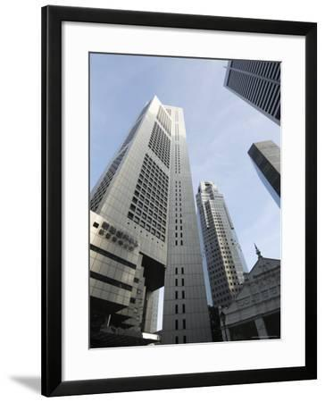 Raffles Place in the Financial District, Singapore, Southeast Asia, Asia-Amanda Hall-Framed Photographic Print