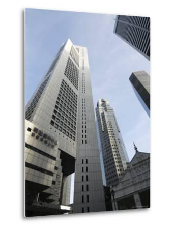 Raffles Place in the Financial District, Singapore, Southeast Asia, Asia-Amanda Hall-Metal Print