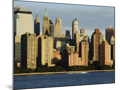 Lower Manhattan Financial District Skyline Across the Hudson River, New York City, New York, USA-Amanda Hall-Mounted Photographic Print