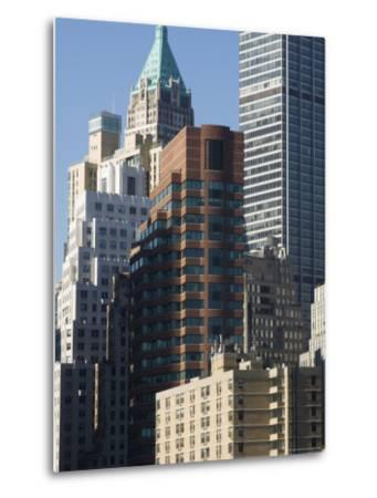 Tall Buildings in the Financial District of Lower Manhattan, New York City, New York, USA-Amanda Hall-Metal Print