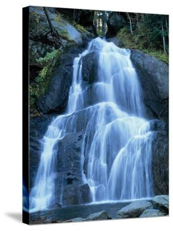 Moss Glen Falls in the Green Mountain National Forest, Vermont, New England, USA-Amanda Hall-Stretched Canvas Print