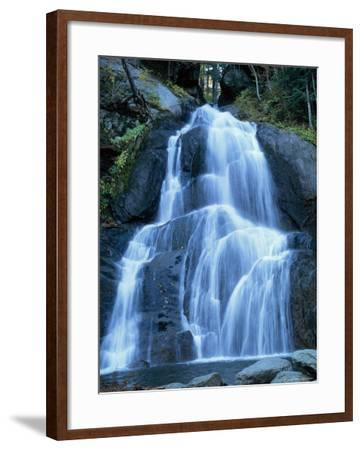 Moss Glen Falls in the Green Mountain National Forest, Vermont, New England, USA-Amanda Hall-Framed Photographic Print