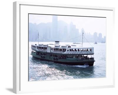 Star Ferry, Victoria Harbour, with Hong Kong Island Skyline in Mist Beyond, Hong Kong, China, Asia-Amanda Hall-Framed Photographic Print