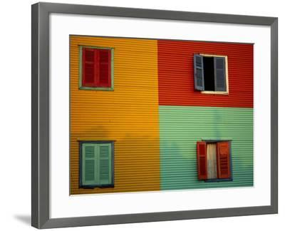 Colourful Buildings in La Boca District, Buenos Aires, Argentina-Louise Murray-Framed Photographic Print