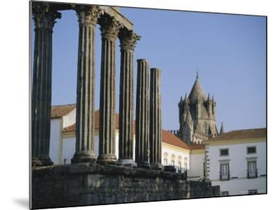 Roman Temple and Cathedral, Evora, Alentejo, Portugal, Europe-Firecrest Pictures-Mounted Photographic Print