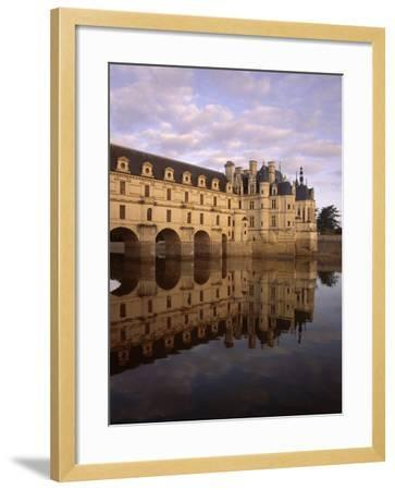 Chateau of Chenonceaux, Reflected in Water, Loire Valley, Centre, France, Europe-Jeremy Lightfoot-Framed Photographic Print