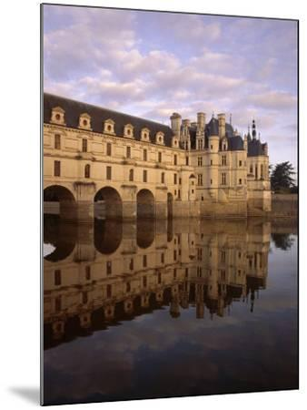 Chateau of Chenonceaux, Reflected in Water, Loire Valley, Centre, France, Europe-Jeremy Lightfoot-Mounted Photographic Print