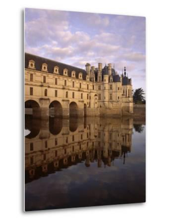 Chateau of Chenonceaux, Reflected in Water, Loire Valley, Centre, France, Europe-Jeremy Lightfoot-Metal Print