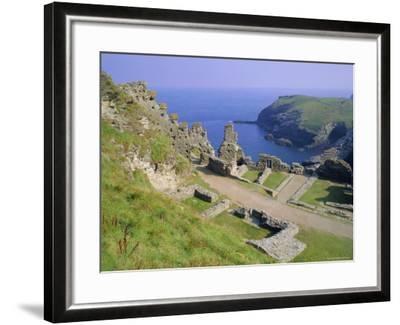 Tintagel Castle, Associated with the Legend of King Arthur, Tintagel, Cornwall, England, UK-Roy Rainford-Framed Photographic Print