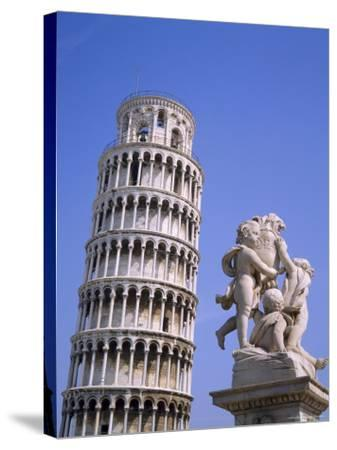 The Leaning Tower of Pisa, Pisa, Tuscany, Italy-Roy Rainford-Stretched Canvas Print