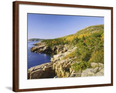Acadia National Park Coastline, Maine, New England, USA-Roy Rainford-Framed Photographic Print