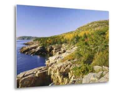 Acadia National Park Coastline, Maine, New England, USA-Roy Rainford-Metal Print