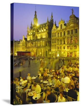 Grand Place, Brussels, Belgium-Roy Rainford-Stretched Canvas Print