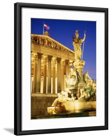 Statue in Front of the Parliament Buildings in Vienna, Austria-Roy Rainford-Framed Photographic Print