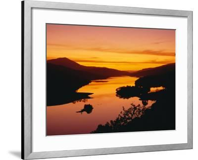Queen's View at Sunset, Pitlochry, Tayside, Scotland, UK, Europe-Roy Rainford-Framed Photographic Print
