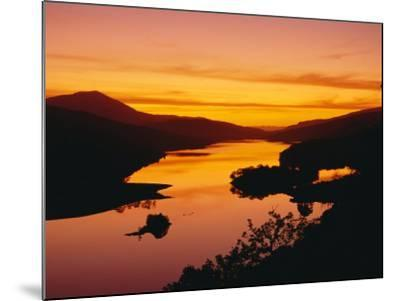 Queen's View at Sunset, Pitlochry, Tayside, Scotland, UK, Europe-Roy Rainford-Mounted Photographic Print