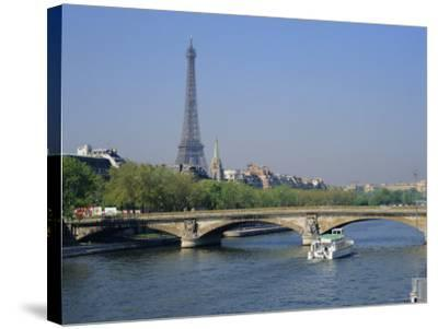The River Seine and Eiffel Tower, Paris, France, Europe-Roy Rainford-Stretched Canvas Print