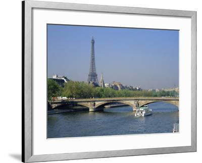 The River Seine and Eiffel Tower, Paris, France, Europe-Roy Rainford-Framed Photographic Print