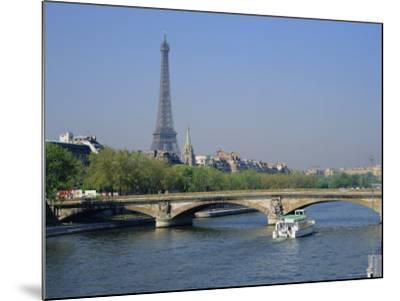 The River Seine and Eiffel Tower, Paris, France, Europe-Roy Rainford-Mounted Photographic Print