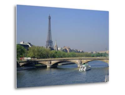 The River Seine and Eiffel Tower, Paris, France, Europe-Roy Rainford-Metal Print