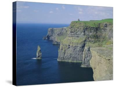 The Cliffs of Moher, County Clare, Munster, Republic of Ireland (Eire), Europe-Roy Rainford-Stretched Canvas Print