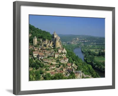 Castelnaud and the River Dordogne, Dordogne, Aquitaine, France, Europe-Roy Rainford-Framed Photographic Print
