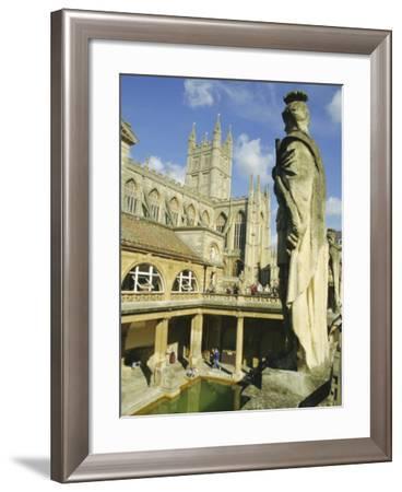 The Roman Baths, Bath, Avon, England, UK-Roy Rainford-Framed Photographic Print
