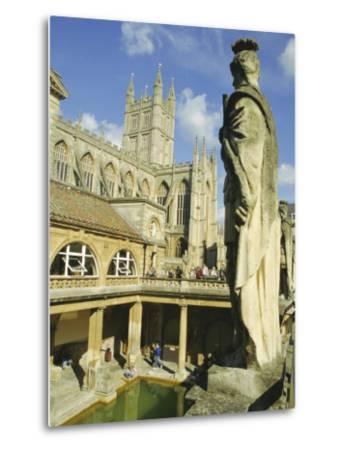 The Roman Baths, Bath, Avon, England, UK-Roy Rainford-Metal Print
