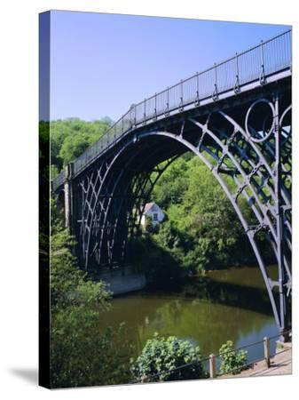 The Iron Bridge Over the River Severn, Ironbridge, Shropshire, England, UK-Roy Rainford-Stretched Canvas Print