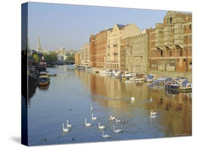 Redcliffe Wharf, Bristol Harbour, Bristol, England, UK-Rob Cousins-Stretched Canvas Print