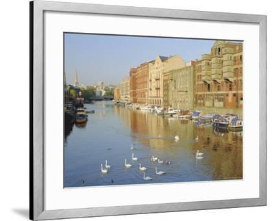 Redcliffe Wharf, Bristol Harbour, Bristol, England, UK-Rob Cousins-Framed Photographic Print