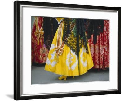 Traditional Dresses, Las Fallas Fiesta, Valencia, Spain, Europe-Rob Cousins-Framed Photographic Print