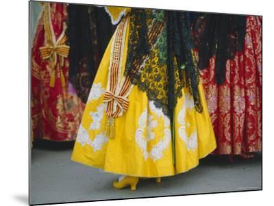Traditional Dresses, Las Fallas Fiesta, Valencia, Spain, Europe-Rob Cousins-Mounted Photographic Print