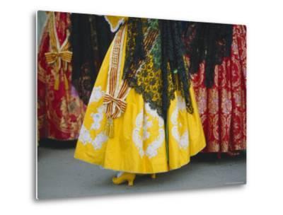 Traditional Dresses, Las Fallas Fiesta, Valencia, Spain, Europe-Rob Cousins-Metal Print