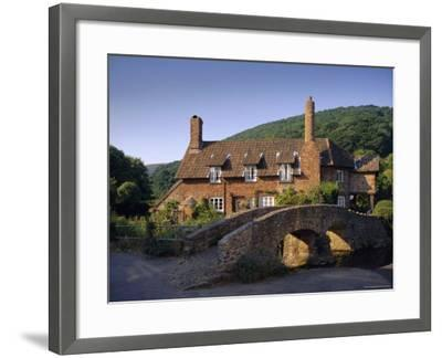 Packhorse Bridge, Allerford, Exmoor National Park, Somerset, England, UK, Europe-John Miller-Framed Photographic Print